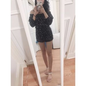 Abercrombie and Fitch Flora Off-Shoulder Romper